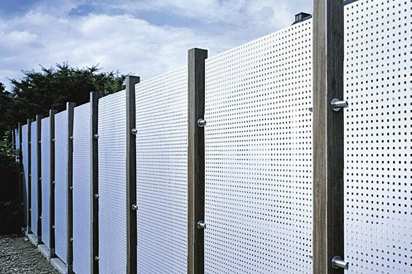 Забор из нержавеющего перфорированного листа